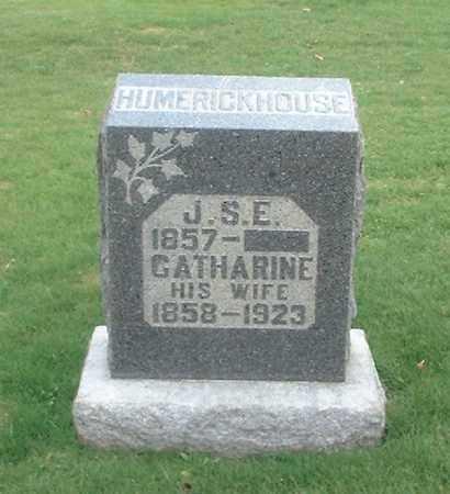 HUMERICKHOUSE, J.S,E, - Tuscarawas County, Ohio | J.S,E, HUMERICKHOUSE - Ohio Gravestone Photos