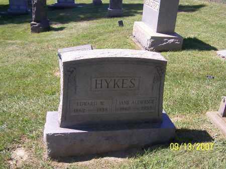 HYKES, JANE ALDRIDGE - Tuscarawas County, Ohio | JANE ALDRIDGE HYKES - Ohio Gravestone Photos