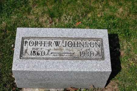 JOHNSON, PORTER W - Tuscarawas County, Ohio | PORTER W JOHNSON - Ohio Gravestone Photos