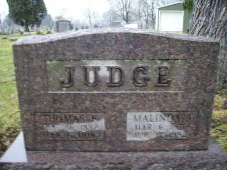FREED JUDGE, MALINDA J. - Tuscarawas County, Ohio | MALINDA J. FREED JUDGE - Ohio Gravestone Photos