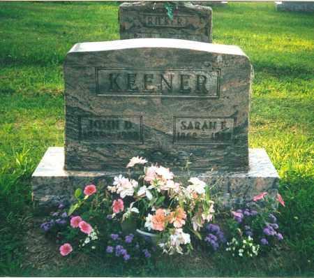 KEENER, SARAH ELLEN - Tuscarawas County, Ohio | SARAH ELLEN KEENER - Ohio Gravestone Photos