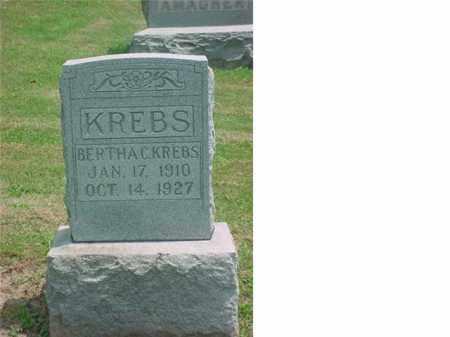 KREBS KREBS, BERTHA C - Tuscarawas County, Ohio   BERTHA C KREBS KREBS - Ohio Gravestone Photos