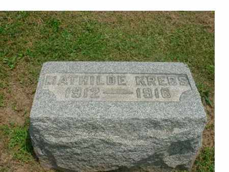 KREBS KREBS, SARRAH MATHILDE - Tuscarawas County, Ohio   SARRAH MATHILDE KREBS KREBS - Ohio Gravestone Photos