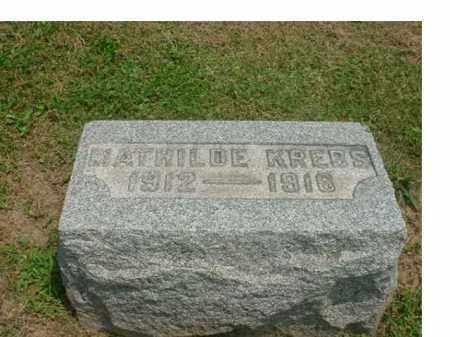 KREBS, SARRAH MATHILDE - Tuscarawas County, Ohio | SARRAH MATHILDE KREBS - Ohio Gravestone Photos