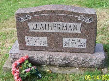 LEATHERMAN, GEORGE D. - Tuscarawas County, Ohio   GEORGE D. LEATHERMAN - Ohio Gravestone Photos