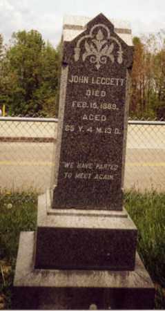 LEGGETT, JOHN - Tuscarawas County, Ohio | JOHN LEGGETT - Ohio Gravestone Photos