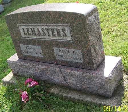 LEMASTERS, BASIL D. - Tuscarawas County, Ohio   BASIL D. LEMASTERS - Ohio Gravestone Photos
