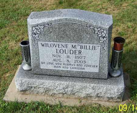 LOUDER, WILOVENE M.  'BILLIE' - Tuscarawas County, Ohio | WILOVENE M.  'BILLIE' LOUDER - Ohio Gravestone Photos