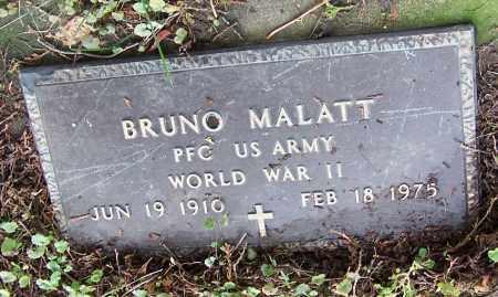 MALATT, BRUNO  (MIL)    (R.ME) - Tuscarawas County, Ohio   BRUNO  (MIL)    (R.ME) MALATT - Ohio Gravestone Photos