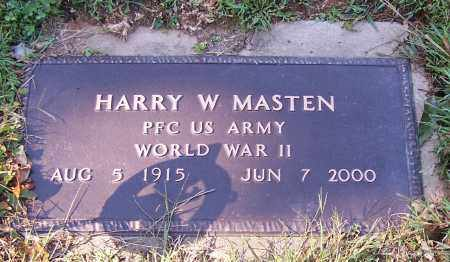 MASTEN, HARRY W.   (MIL) - Tuscarawas County, Ohio   HARRY W.   (MIL) MASTEN - Ohio Gravestone Photos