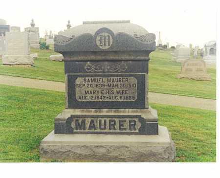 MAURER, SAMUEL - Tuscarawas County, Ohio | SAMUEL MAURER - Ohio Gravestone Photos