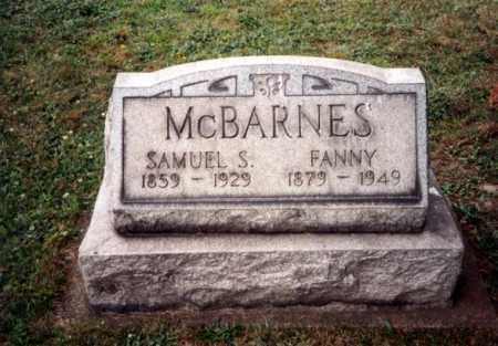 MCBARNES, FANNY - Tuscarawas County, Ohio | FANNY MCBARNES - Ohio Gravestone Photos