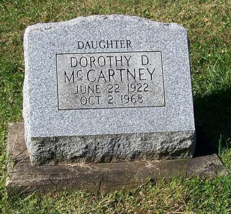 MCCARTNEY, DOROTHY D. - Tuscarawas County, Ohio | DOROTHY D. MCCARTNEY - Ohio Gravestone Photos