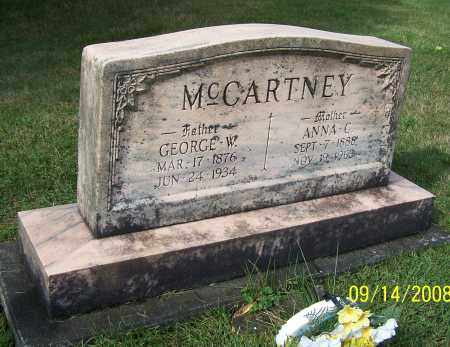 MCCARTNEY, GEORGE W. - Tuscarawas County, Ohio | GEORGE W. MCCARTNEY - Ohio Gravestone Photos