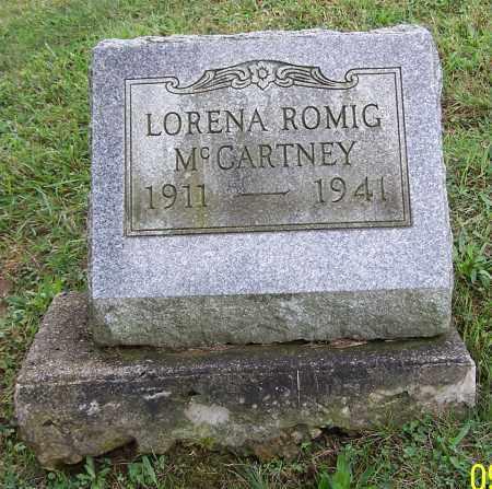 ROMIG MCCARTNEY, LORENA ROMIG - Tuscarawas County, Ohio | LORENA ROMIG ROMIG MCCARTNEY - Ohio Gravestone Photos