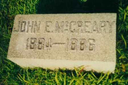 MCCREARY, JOHN EDWIN - Tuscarawas County, Ohio | JOHN EDWIN MCCREARY - Ohio Gravestone Photos