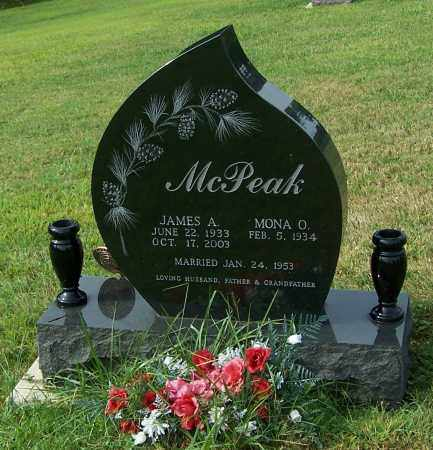 MCPEAK, JAMES A. - Tuscarawas County, Ohio   JAMES A. MCPEAK - Ohio Gravestone Photos