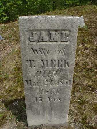 KNIGHT MEEK, JANE - Tuscarawas County, Ohio | JANE KNIGHT MEEK - Ohio Gravestone Photos