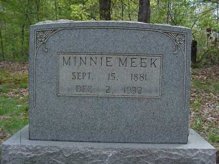 MEEK, MINNIE - Tuscarawas County, Ohio | MINNIE MEEK - Ohio Gravestone Photos