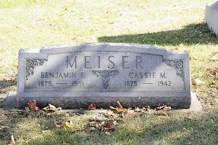 MEISER, BENJAMIN F. - Tuscarawas County, Ohio | BENJAMIN F. MEISER - Ohio Gravestone Photos