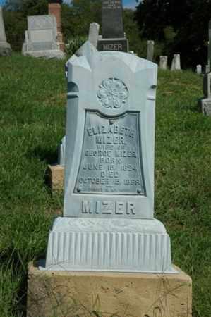 MIZER, ELIZABETH - Tuscarawas County, Ohio | ELIZABETH MIZER - Ohio Gravestone Photos