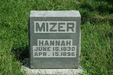 MIZER, HANNAH - Tuscarawas County, Ohio | HANNAH MIZER - Ohio Gravestone Photos
