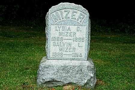 MIZER, LYDIA D. - Tuscarawas County, Ohio   LYDIA D. MIZER - Ohio Gravestone Photos
