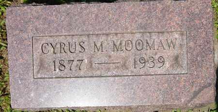 MOOMAW, CYRUS M. - Tuscarawas County, Ohio | CYRUS M. MOOMAW - Ohio Gravestone Photos