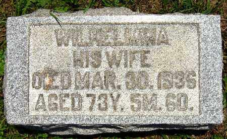 MOOMAW, WILHELMINA - Tuscarawas County, Ohio | WILHELMINA MOOMAW - Ohio Gravestone Photos