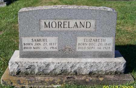 YNDERWOOD MORELAND, ELIZABETH - Tuscarawas County, Ohio   ELIZABETH YNDERWOOD MORELAND - Ohio Gravestone Photos