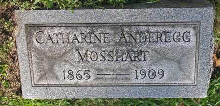 ANDEREGG MOSSHART, CATHARINE - Tuscarawas County, Ohio | CATHARINE ANDEREGG MOSSHART - Ohio Gravestone Photos