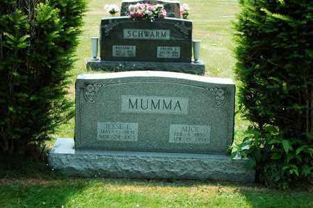 MUMMA, ALICE - Tuscarawas County, Ohio | ALICE MUMMA - Ohio Gravestone Photos