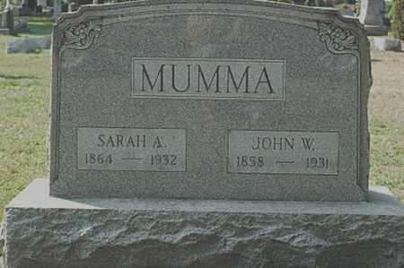 MUMMA, JOHN W. - Tuscarawas County, Ohio | JOHN W. MUMMA - Ohio Gravestone Photos