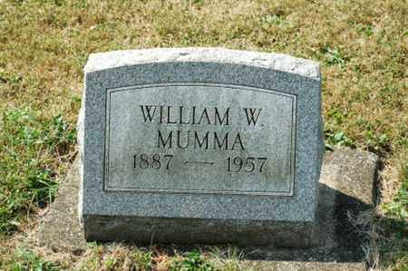 MUMMA, WILLIAM W. - Tuscarawas County, Ohio   WILLIAM W. MUMMA - Ohio Gravestone Photos
