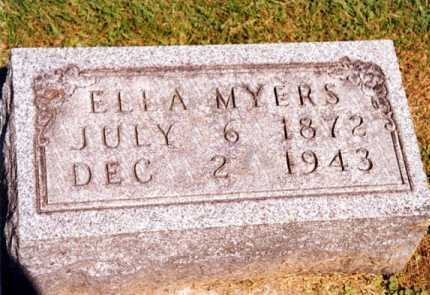 MCBARNES MYERS, ELLA - Tuscarawas County, Ohio | ELLA MCBARNES MYERS - Ohio Gravestone Photos