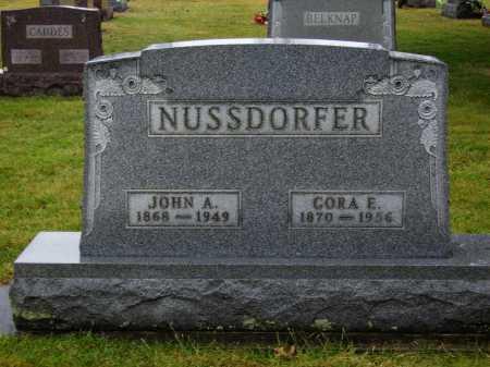 NUSSDORFER, JOHN A. - Tuscarawas County, Ohio | JOHN A. NUSSDORFER - Ohio Gravestone Photos