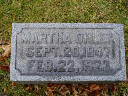 OHLER, MARTHA - Tuscarawas County, Ohio   MARTHA OHLER - Ohio Gravestone Photos
