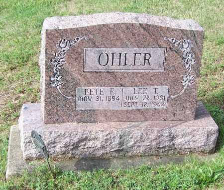 OHLER, PETE E. - Tuscarawas County, Ohio | PETE E. OHLER - Ohio Gravestone Photos