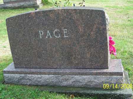 PAGE, FAMILY MONUMENT - Tuscarawas County, Ohio | FAMILY MONUMENT PAGE - Ohio Gravestone Photos