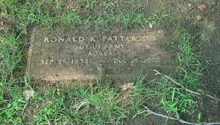 PATTERSON, RONALD K - Tuscarawas County, Ohio | RONALD K PATTERSON - Ohio Gravestone Photos