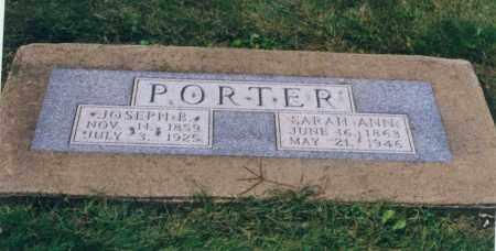 PORTER, JOSEPH BUCHANAN - Tuscarawas County, Ohio | JOSEPH BUCHANAN PORTER - Ohio Gravestone Photos