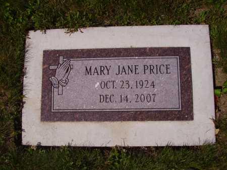 PRICE, MARY JANE - Tuscarawas County, Ohio | MARY JANE PRICE - Ohio Gravestone Photos