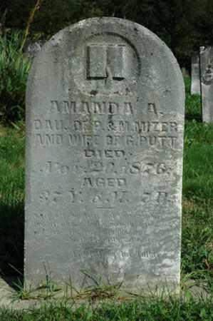 MIZER PUTT, AMANDA A. - Tuscarawas County, Ohio   AMANDA A. MIZER PUTT - Ohio Gravestone Photos