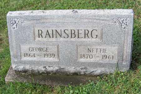 RAINSBERG, NETTIE - Tuscarawas County, Ohio | NETTIE RAINSBERG - Ohio Gravestone Photos