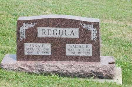 REGULA, WALTER E. - Tuscarawas County, Ohio | WALTER E. REGULA - Ohio Gravestone Photos