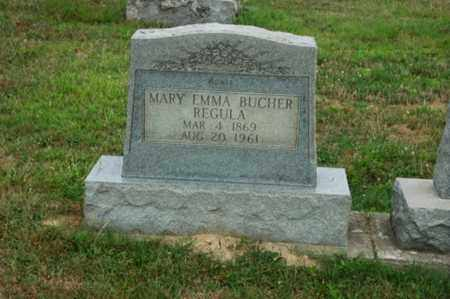 BUCHER REGULA, MARY EMMA - Tuscarawas County, Ohio | MARY EMMA BUCHER REGULA - Ohio Gravestone Photos