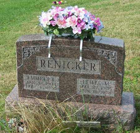 RENICKER, LEOTA M. - Tuscarawas County, Ohio | LEOTA M. RENICKER - Ohio Gravestone Photos