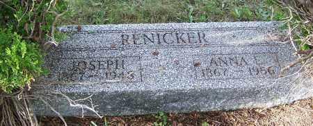 RENICKER, JOSEPH - Tuscarawas County, Ohio   JOSEPH RENICKER - Ohio Gravestone Photos