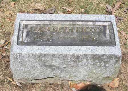 RIEKER, ELIZABETH - Tuscarawas County, Ohio | ELIZABETH RIEKER - Ohio Gravestone Photos