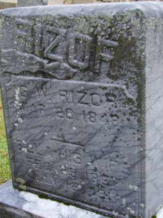 RIZOR, ELLA - Tuscarawas County, Ohio   ELLA RIZOR - Ohio Gravestone Photos